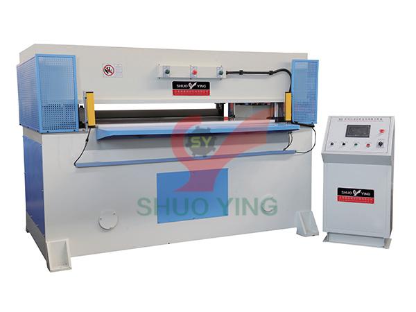 Rubber roller feeding precision four column hydraulic plane blanking machine