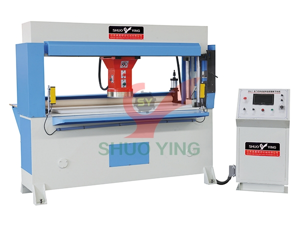 Rubber roller hydraulic traveling head cutting machine