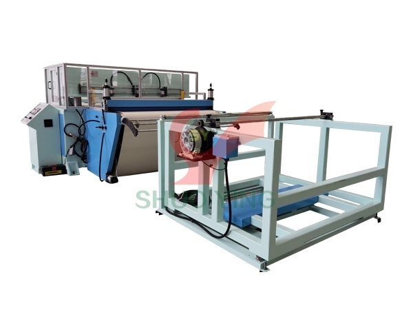 Conveyor belt hydraulic cutting machine for car mats